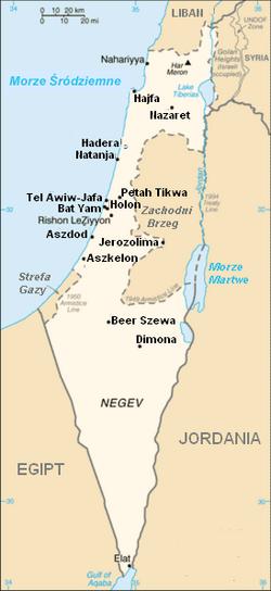 Izrael map