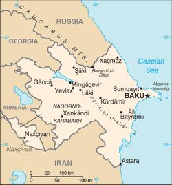MapaAzerbejdzan