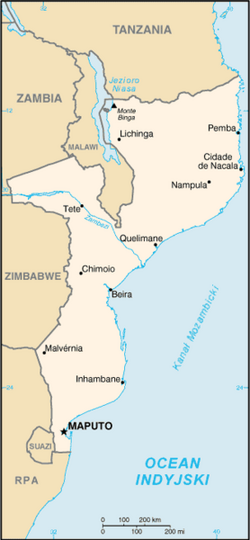 MapaMozambik