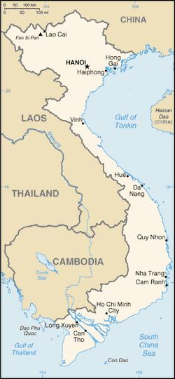 MapaWietnam