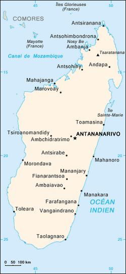 MapaMadagaskar