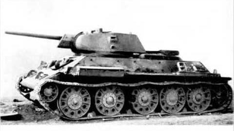 Russian world war two tank. T-34