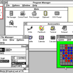 Windows 3.0 desktop screenshot.