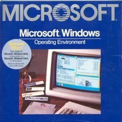 Microsoft Windows 1.01 box.