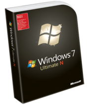 Windows 7 Ultimate N caja
