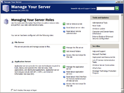 Windows Server 2003 Manage Your Server