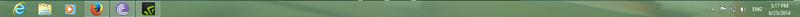 Windows 8 taskbar
