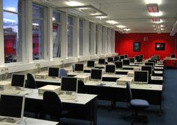 Computer lab showing desktop PCs warwick