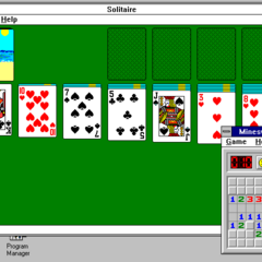 Windows 3.1 Solitaire and Minesweeper.