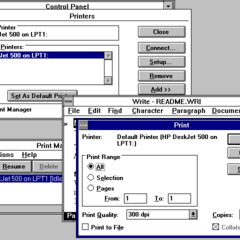 Windows 3.1 Print Manager