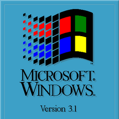 Microsoft Windows 3.1 (English) logo (1992).