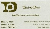 Traf-O-Data Business card