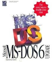 MS-DOS 6 upgrade cover