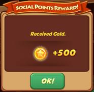 Social Points Reward Gold