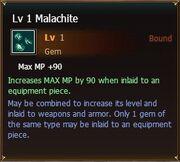 Malachite lvl1
