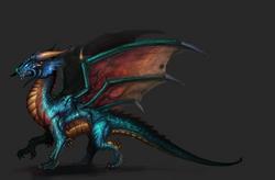 Blue Dragon Large