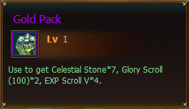 Items Gold Pack