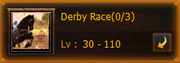 Derby Race Box Events Screen
