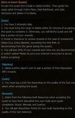 Escort Quest Instructions