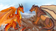 Wings of fire peril and clay by biohazardia dce8epg-pre
