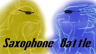 Qibli and Winters saxophone battle