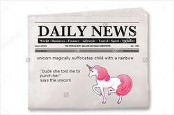 Unicorntrapschildinrainbow