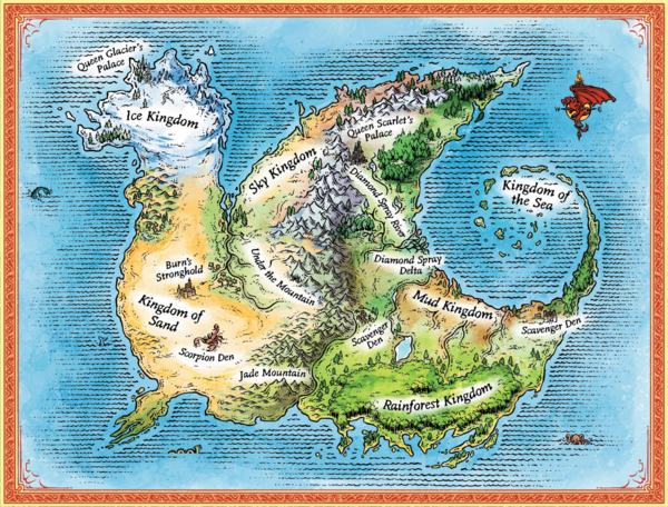 Kingdoms of pyrrhia wings of fire wiki fandom powered by wikia kingdoms of pyrrhia map by mike schley colored by platypus sciox Choice Image