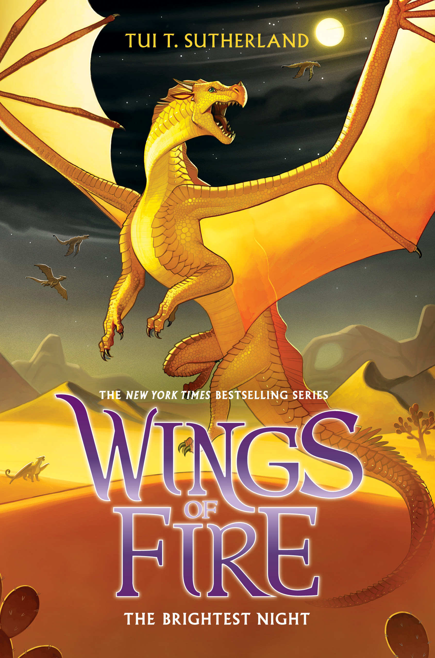 """Cover of """"Wings Of Fire: The Brightest Night"""" by Tui T. Sutherland"""