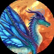 Wings of fire blue by biohazardia-dcfhkaa