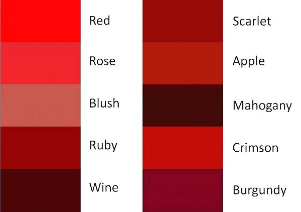 Shades Of Red Paint Diffe Terrific Complete Color