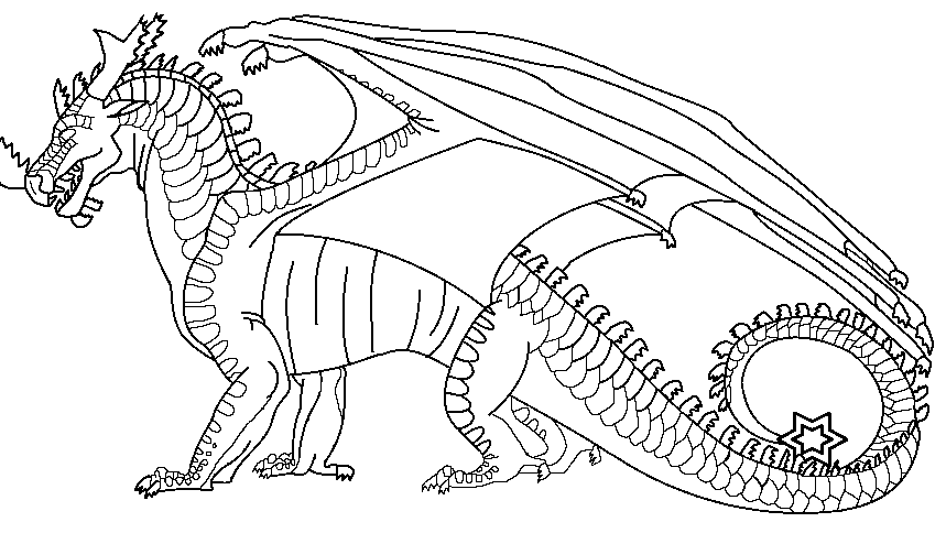 Image DreamWing lineart royalpng Wings of Fire Fanon Wiki