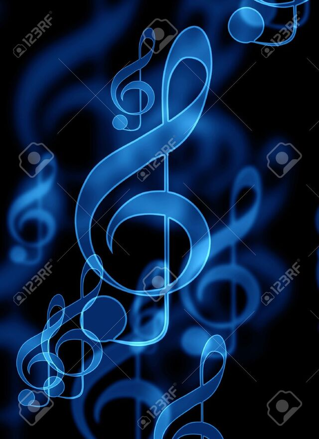5161054-blue-music-notes-on-a-black-background
