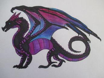 Dawnbreaker (NightWing/RainWing Hybrid) | Wings of Fire Fanon Wiki