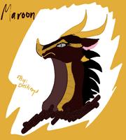 One edgy maroon