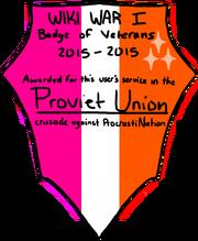 Proviet Vet Badge
