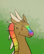 Anteater with Rainbows