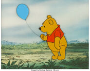 Pooh bear production cel 4