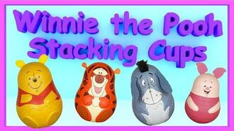 Winnie the Pooh Stacking Cups Tigger Eeyore Piglet Surprise Eggs - Russian dolls