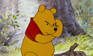 Winnie the Pooh is thinking of something