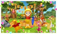 Pooh with his Friends and Mii Photos