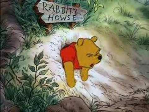習包子維尼吃太多蜂蜜腹脹氣痛,從山動裡爬不出來