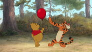 Tigger can't let the red balloon be his sidekick
