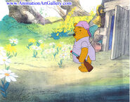 Production cel of Winnie The Pooh