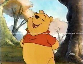 Pooh singing Hooray, Hooray