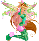 Winx Club Flora Bloomix pose