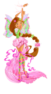 Winx Club Flora Harmonixx pose