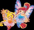 Winx Club Bloom and Stella Sirenix pose