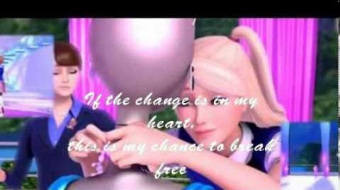 Barbie In Princess Charm School-On Top Of The World-lyrics(HQ remake)-Full song -Rachel Bearer