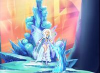 Aurora in throne room
