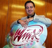 Iginio Straffi With Logo